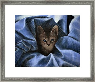 Mimi In The Sheets - Pastel Framed Print by Ben Kotyuk