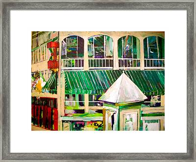 Mimihane's On Main Framed Print by Carol Mangano