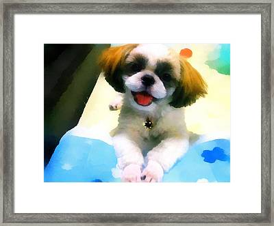 Mimi's Smile Framed Print by Tony Chong