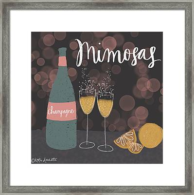 Mimosas Framed Print by Katie Doucette