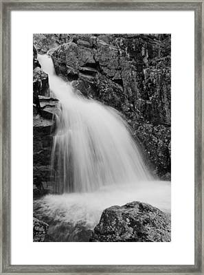 Mina Sauk Falls On Taum Sauk Mountain In The Ozarks Framed Print