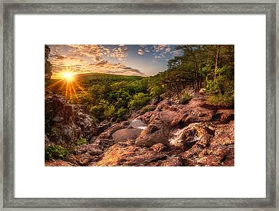 Mina Sauk Falls Framed Print by Robert Charity