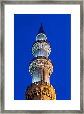 Minaret At Night Framed Print by Hans Engbers