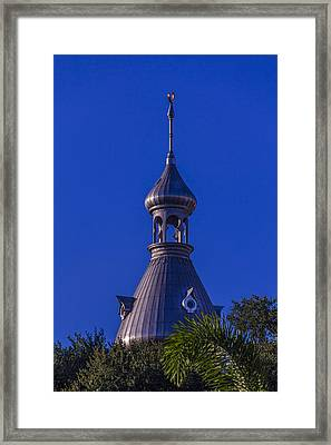 Minaret In The Trees Framed Print by Marvin Spates