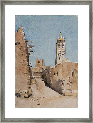 Minaret Of Sidi Okba, 18th April 1889  Framed Print by Henri Duhem