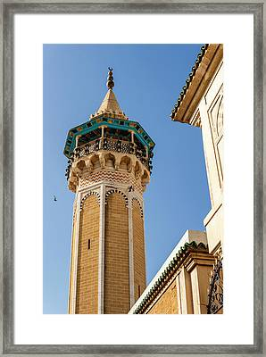 Minaret Of Youssef Dey Mosque, Tunisia Framed Print by Nico Tondini