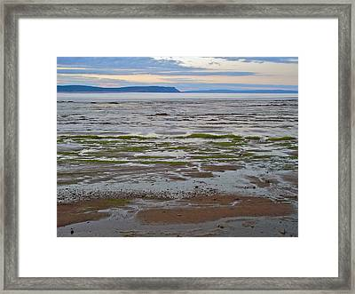 Minas Basin At Dusk In Fundy Bay Near Grand Pre-ns Framed Print by Ruth Hager