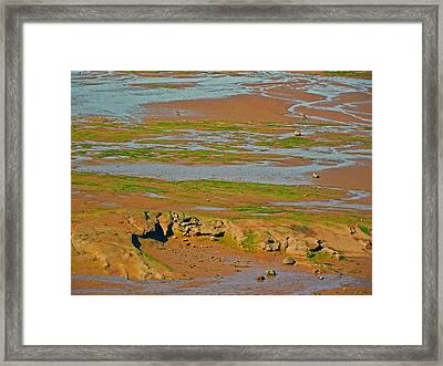 Minas Basin In Afternoon At Fundy Bay Near Grand Pre-ns Framed Print by Ruth Hager
