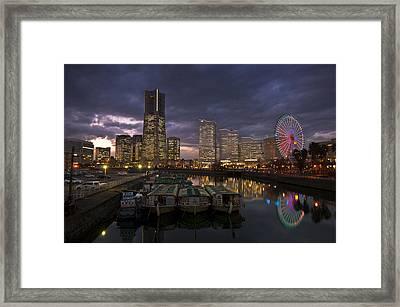 Minato Mirai Playground Framed Print