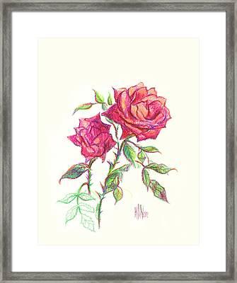 Minature Red Rose Framed Print by Kip DeVore