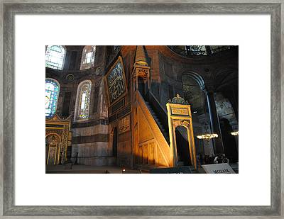Minbar Of Hagia Sophia Framed Print by Jacqueline M Lewis
