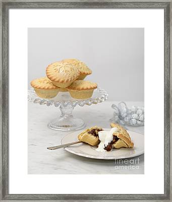Mince Pies With Cream Framed Print