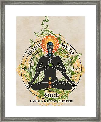 Mind Body And Soul Kundalini Framed Print
