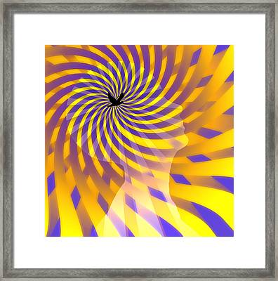 Framed Print featuring the digital art Mind by Bruce Rolff