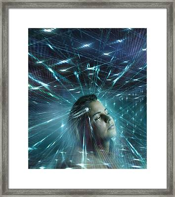 Mind Control, Conceptual Artwork Framed Print by Science Photo Library
