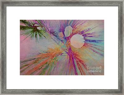 Mind Energy Aura Framed Print by Deborah Benoit