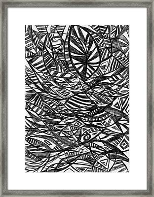 Mind Fishing Framed Print