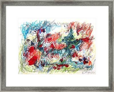 Framed Print featuring the painting Mind Games by Esther Newman-Cohen