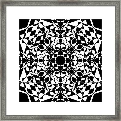 B W Sq 2 Framed Print by Mike McGlothlen
