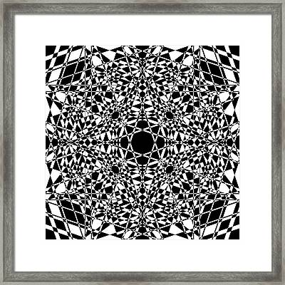 B W Sq 3 Framed Print by Mike McGlothlen
