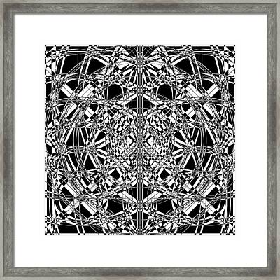 B W Sq 4 Framed Print by Mike McGlothlen