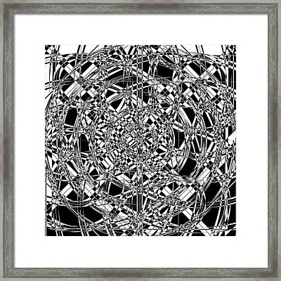 B W Sq 7 Framed Print by Mike McGlothlen