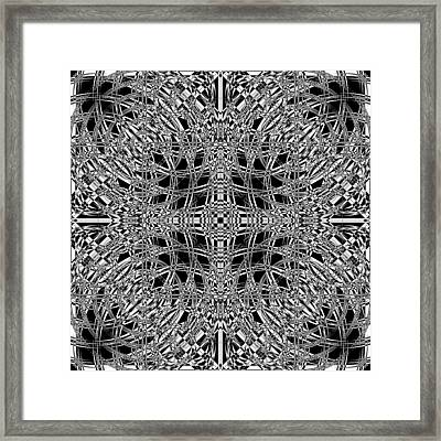 B W Sq 8 Framed Print by Mike McGlothlen