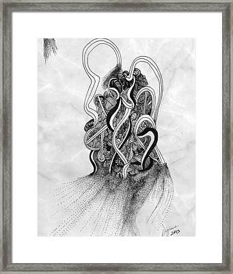 Mind In Confusion Framed Print by Dyana Schoenstadt