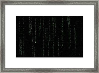 Mind Of The Matrix Framed Print