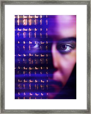 Mind Power, Conceptual Image Framed Print by Science Photo Library