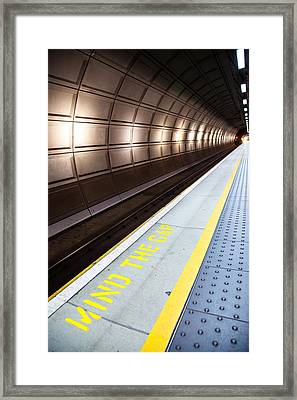 Mind The Gap Framed Print by Adam Pender