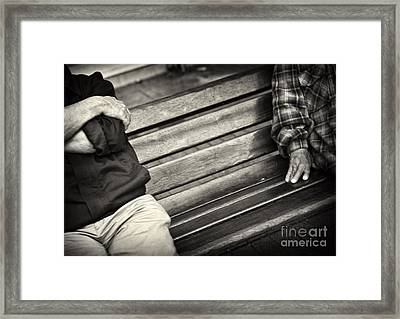 Framed Print featuring the photograph Mind The Gap by Michel Verhoef