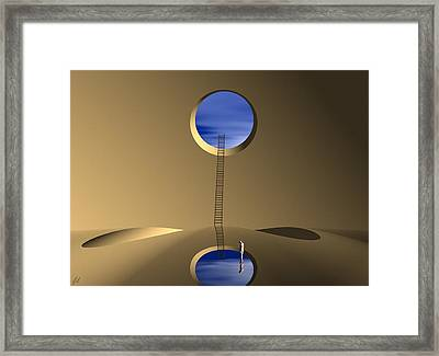 Framed Print featuring the digital art Mind Well by John Alexander