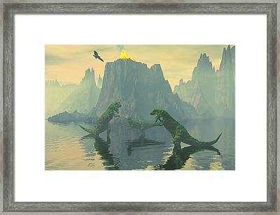Mind Your Own Business Framed Print by Claude McCoy