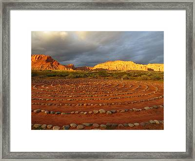 Framed Print featuring the photograph Mindfulness In St. George Utah by Jean Marie Maggi