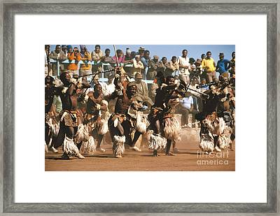 Mine Dancers South Africa Framed Print by Susan McCartney
