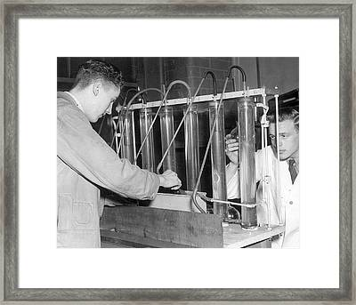 Mine Dust Safety Research Framed Print by Crown Copyright/health & Safety Laboratory Science Photo Library