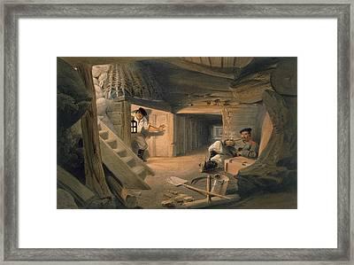 Mine Of The Bastion Du Mat, Plate Framed Print by William 'Crimea' Simpson