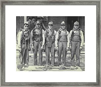 Mine Rescue Team Framed Print