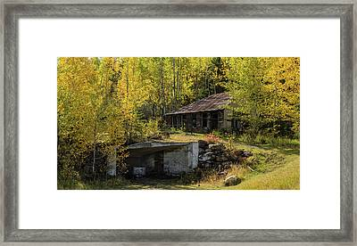 Mine Shaft Entrance And Building Framed Print by Panoramic Images