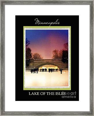 Mineapolis Seasons Winter Framed Print by Heidi Hermes