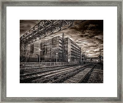 Framed Print featuring the photograph Mineola Station by Steve Zimic
