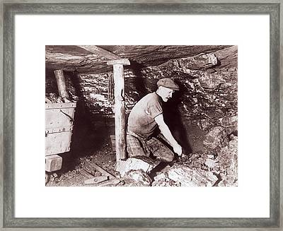 Miner At Work Framed Print by Crown Copyright/health & Safety Laboratory Science Photo Library