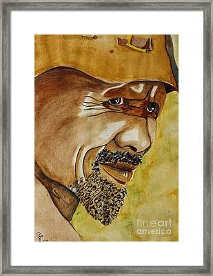 Miner Framed Print by Grant Mansel-James
