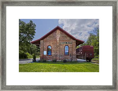 Mineral Bluff Station Framed Print by Debra and Dave Vanderlaan