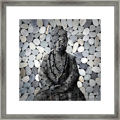 Mineral Buddha Framed Print