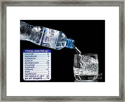 Mineral Water And Its Mineral Content Framed Print by Martyn F. Chillmaid