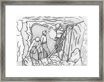Miners At Work Framed Print