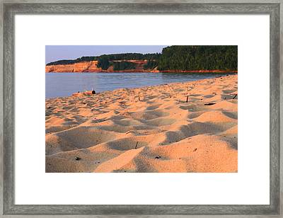Miners Beach At Pictured Rocks National Lakeshore Framed Print
