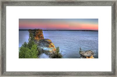 Miners Castle At Dawn Framed Print